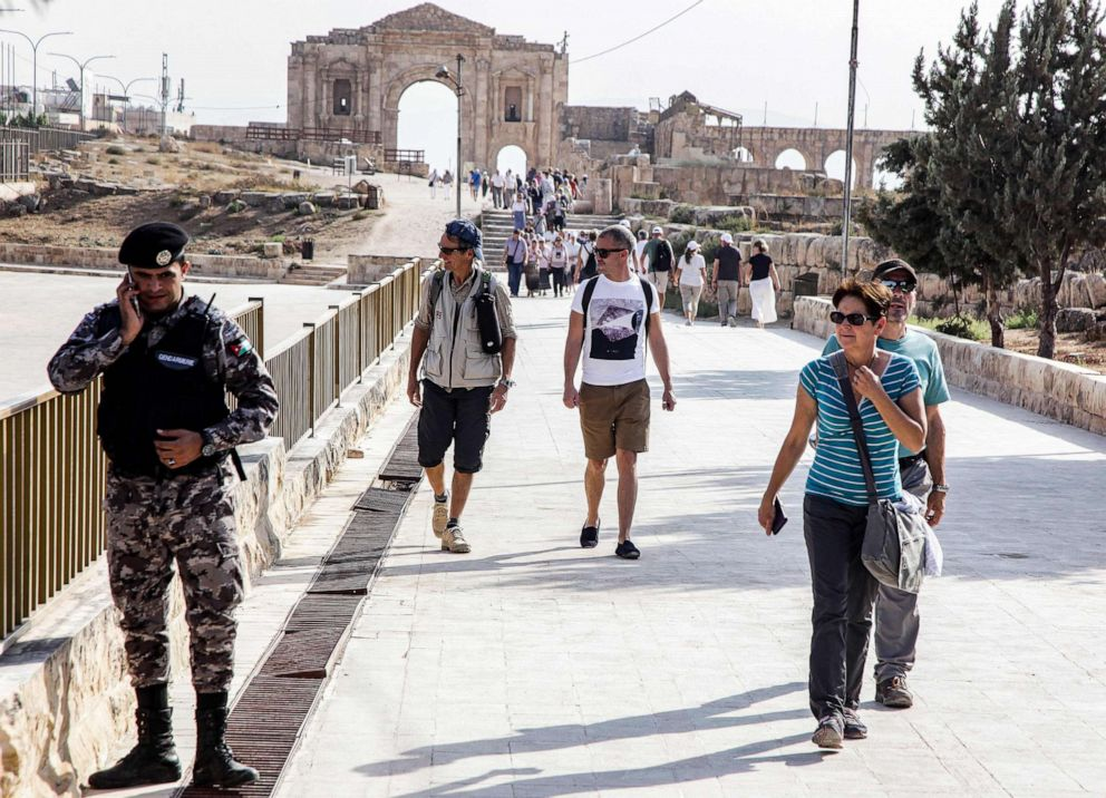 8 injured during knife rampage at historic site inJordan